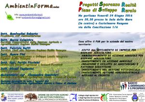 Piano sviluppo rurale 24 06 16